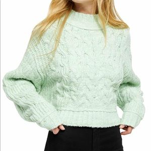 🌼FREE PEOPLE CAROUSEL CABLE KNIT SWEATER NWT